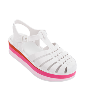 POSSESSION PLATFORM STRIPES WHITE PINK