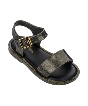 MINI MELISSA MAR SANDAL IV  GOLD BLACK