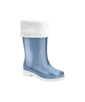 MEL WINTER BOOT  WHITE BLUE