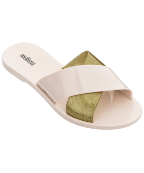 ESSENTIAL SLIDE Beige Glass Glitter