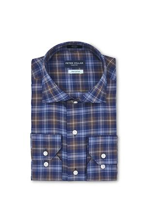 CROWN COMFORT EAST WEST CHECK SPORT SHIRT