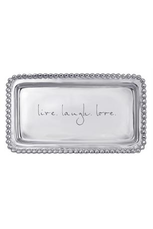 LIVE.LAUGH.LOVE BEADED STATEMENT TRAY