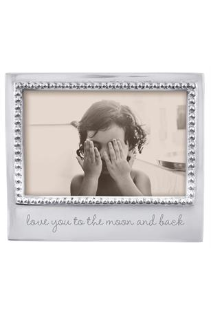 LOVE YOU TO THE MOON AND BACK BEADED 4X6 FRAME