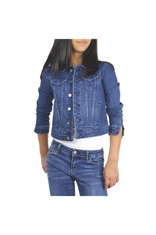 GIRLS BASIC SLIM DENIM JACKET