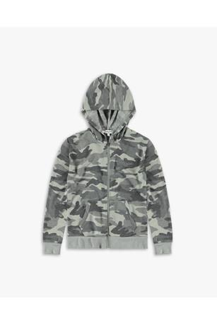 GIRL'S CAMO FRENCH TERRY HOODIE