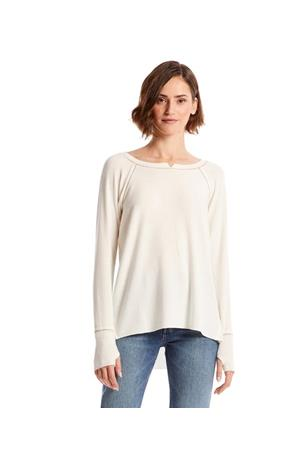 MADISON BRUSHED  NOTCH NECK HI LOW TOP