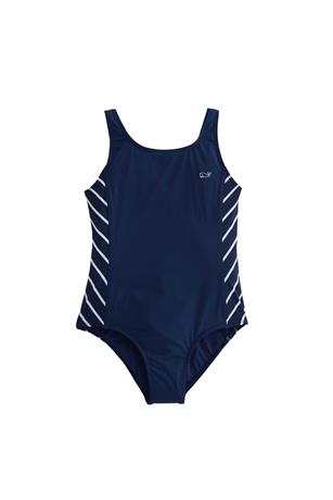 GIRLS STRIPE SPORTY ONE PIECE SWIMSUIT