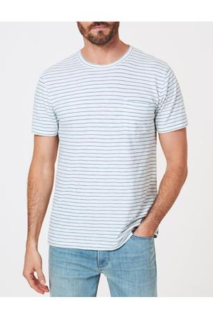SHORT SLEEVE INDIGO POCKET TEE