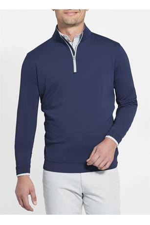 CROWN SPORT PERTH MELANGE QUARTER ZIP