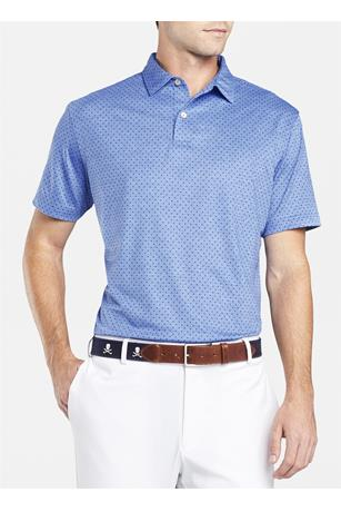 CROWN CRAFTED COUNT POLKA DOT PERFORMANCE POLO