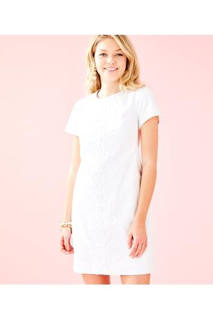 WOMENS MAISIE STRETCH SHIFT DRESS