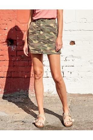 TRI COLOR STAR AND CAMO UTILITY SKIRT