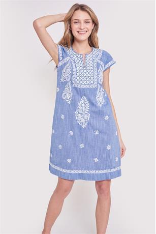 CHAMBRAY FAITH DRESS