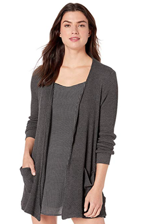 WOMENS HONEYCOMB KNIT CARDIGAN
