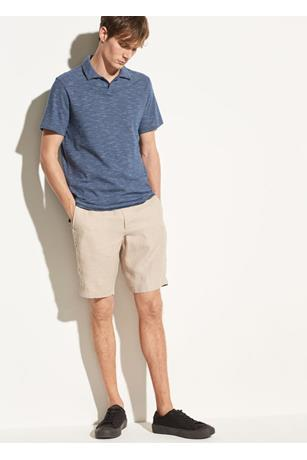 STRIPED SLUB COTTON POLO