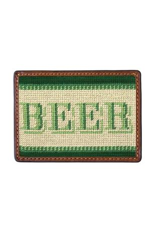 Beer Money Needlepoint Card Wallet
