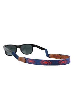 Coral Crab Needlepoint Sunglass Straps