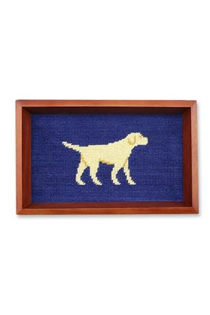 Yellow Lab Needlepoint Valet Tray