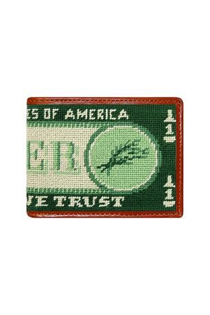 Beer Money Needlepoint Bi-Fold Wallet