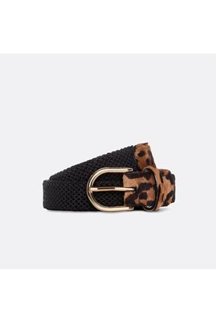WOMEN'S SLIM LONG LEATHER LEOPARD