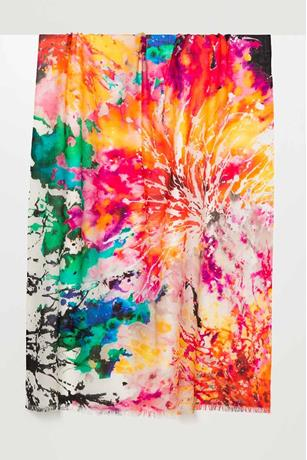 SPLASH FLORAL PRINTED SCARF