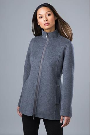 HI LO ZIP MOCK COAT