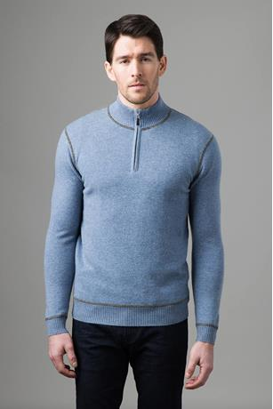 COVERSTITCH QTR ZIP MOCK