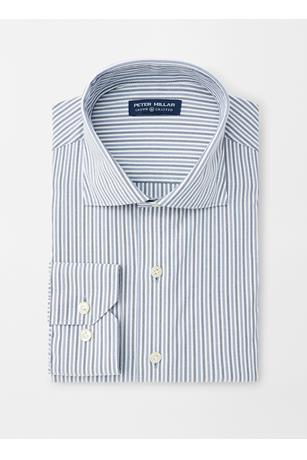 CROWN CRAFTED PETERSON STRIPE PERFORMANCE OXFORD SPORT SHIRT