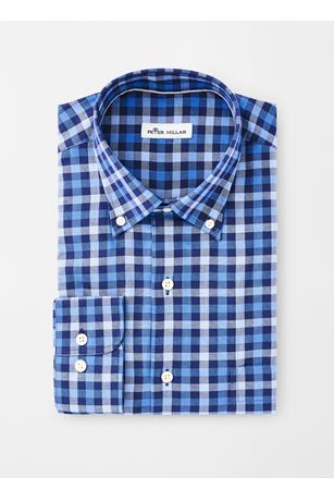 CROWN FLEECE STRETCH MOORLAND MULTI-GINGHAM SPORT SHIRT