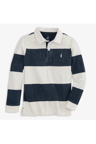 JR L/S STRIPE RUGBY POLO