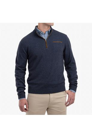 VERNON 1/4 ZIP MERLINO WOOL SWEATER