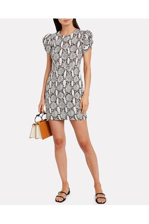 BRINLEY DRESS SNAKEPRINT