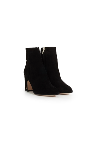 HILTY SUEDE SHORT POINTED TOE BOOTIE