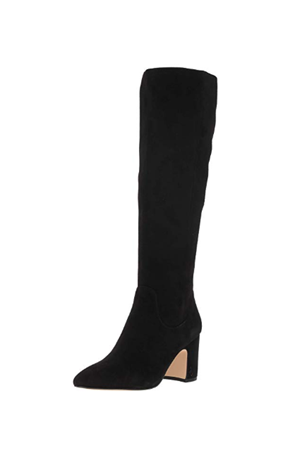 HAI TALL SUEDE STACKED HEEL BOOT