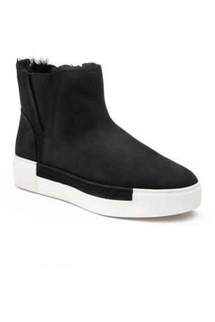 VAL SHORT SUEDE SHEARLING SNEAKER