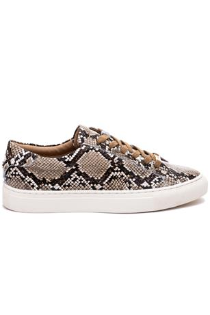 LACEE SNAKE EMBOSSED LACE UP SNEAKER