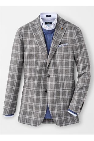 SUFFOLK WINDOWPANE SOFT JACKET