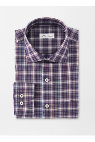CROWN EASE STRETCH OLD FORGE PLAID SPORT SHIRT