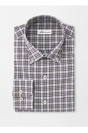 CROWN EASE STRETCH WORTH TARTAN SPORT SHIRT