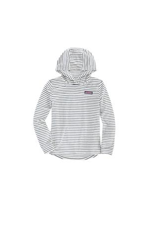 GIRLS STRIPED VELOUR SHEP HOODIE