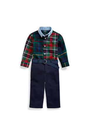 PLAID CHINO SET