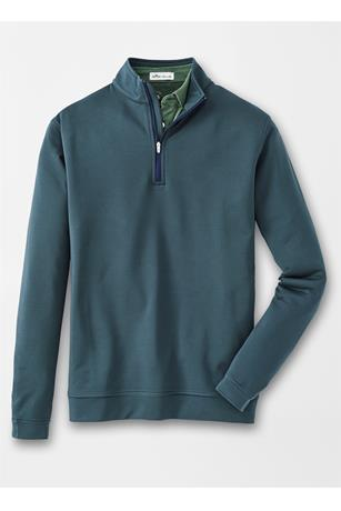 PERTH STRETCH LOOP TERRY SUGAR STRIPE QUARTER-ZIP
