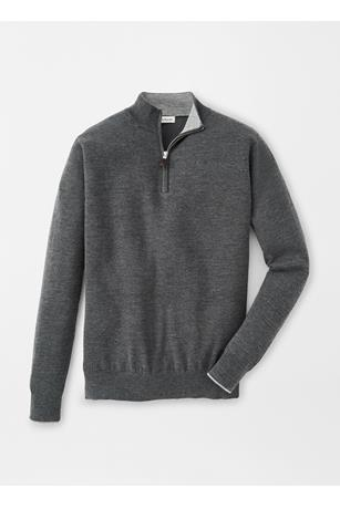 CROWN COMFORT CASHMERE/SILK QUARTER ZIP