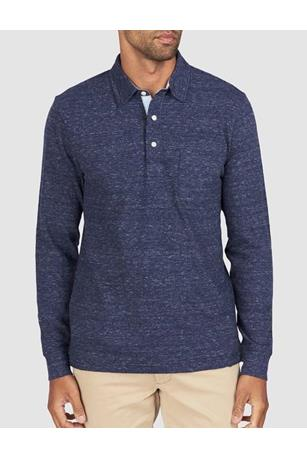 LUXE HEATHER L/S POLO