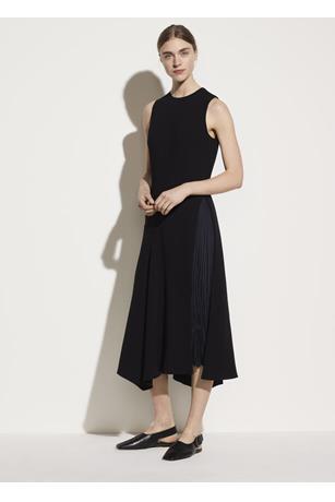 MIXED PANEL DRESS