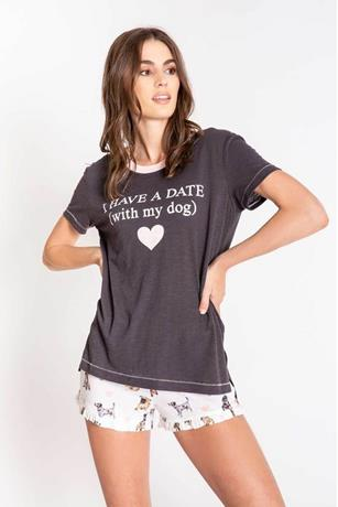 GIVE LOVE I HAVE A DATE WITH MY DOG TSHIRT