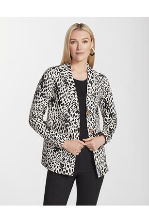 Cheetah Print Twill Coleman Jacket