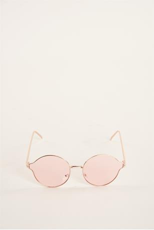 Round Lense Metal Sunglasses PINK