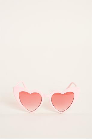 Pointy Heart Shaped Sunglasses BLUSH