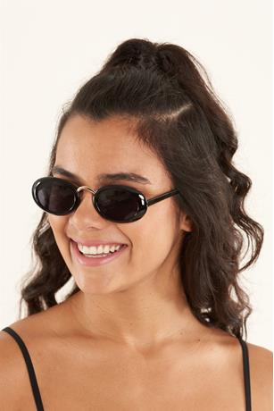 Colored Oval Sunglasses BLACK